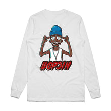 Load image into Gallery viewer, Hopsin Middle Finger White L/S