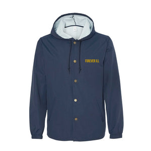 Forever Ill Navy WindBreaker in Gold Ink