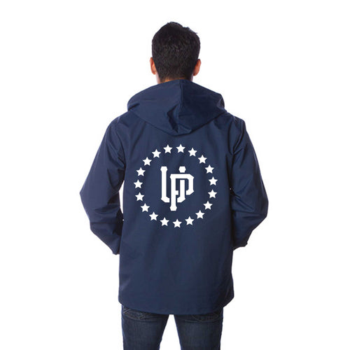Forever Ill Navy WindBreaker in White Ink