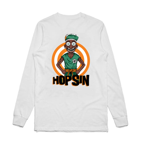 Hopsin Orange White Long Sleeve T-shirt