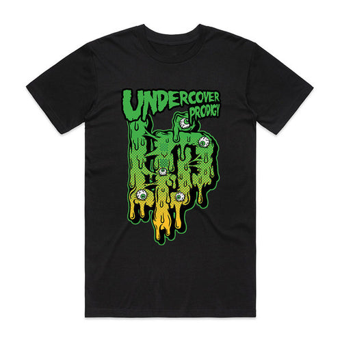 UP Slime Design Black T-shirt