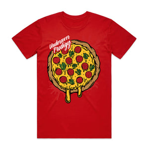 Undercover Prodigy Pizza Red Shirt