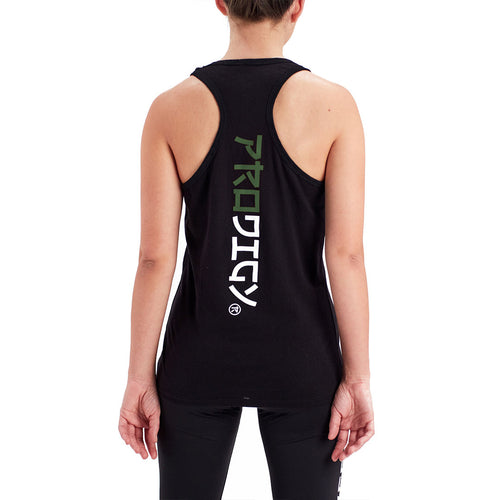 Womens Prodigy Tank Top Green Wave