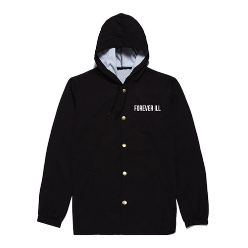 Forever Ill Black WindBreaker  -2XL ONLY