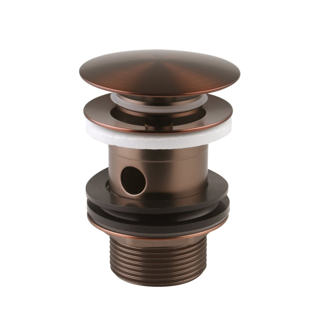 DAX Round Vanity Sink Pop up Drain without Overflow, Brass Body, Oil Rubbed Bronze Finish, 2-3/4 x 2-3/4 Inches (DAX-82017-ORB)