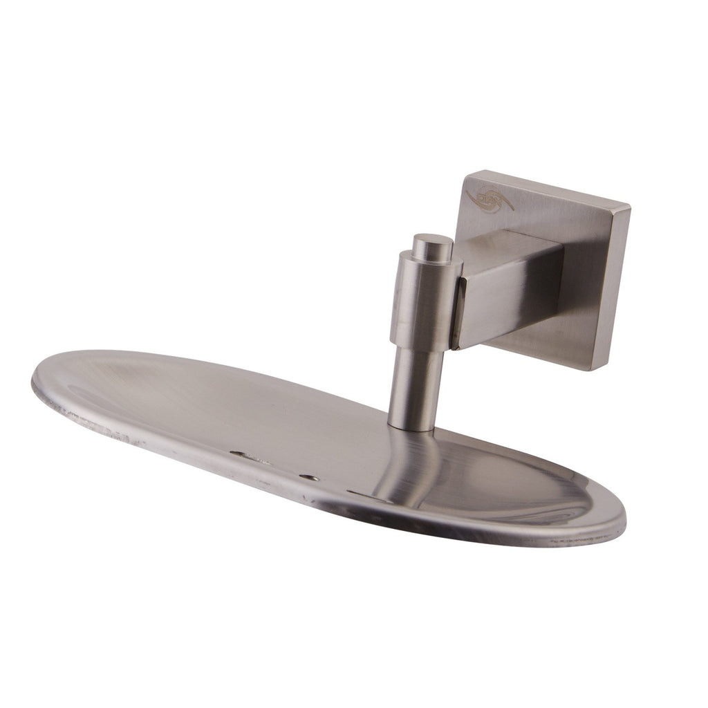 DAX Stainless Steel Soap Dish, Wall Mount Tray, Polish Finish, 6-1/8 x 2-7/16 x 5-15/16 Inches (DAX-G0105A-P)