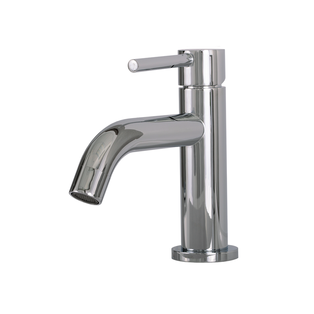 DAX Single Handle Bathroom Faucet, Brass Body, Chrome Finish, 4-15/16 x 6-1/8 Inches (DAX-119-CR)