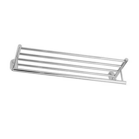 DAX Towel Rack with Shelf, Wall Mount Stainless Steel, Polish Finish, 24-5/8 x 6-1/8 x 8-1/16 Inches (DAX-G0202-P)