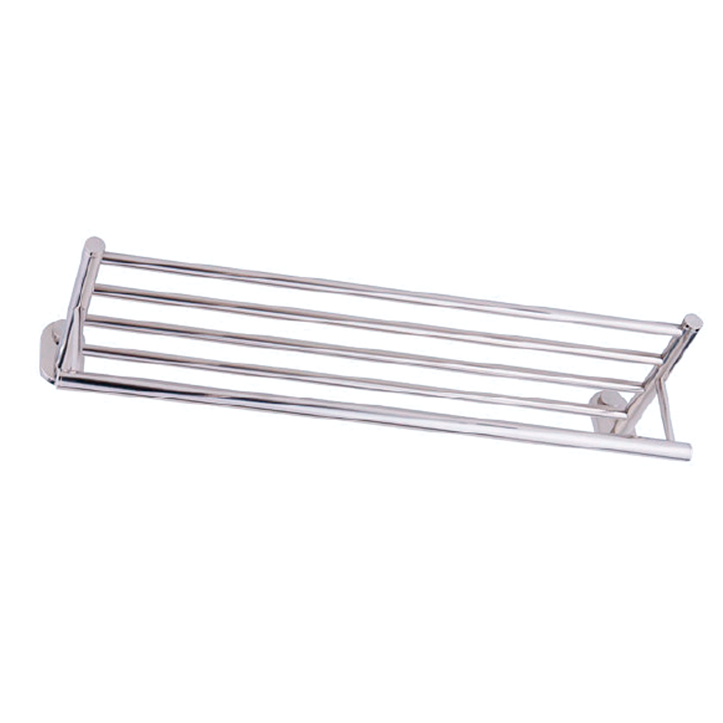 DAX Towel Rack with Shelf, Wall Mount Stainless Steel, Satin Finish, 24-5/8 x 6-1/8 x 8-1/16 Inches (DAX-G0202-S)