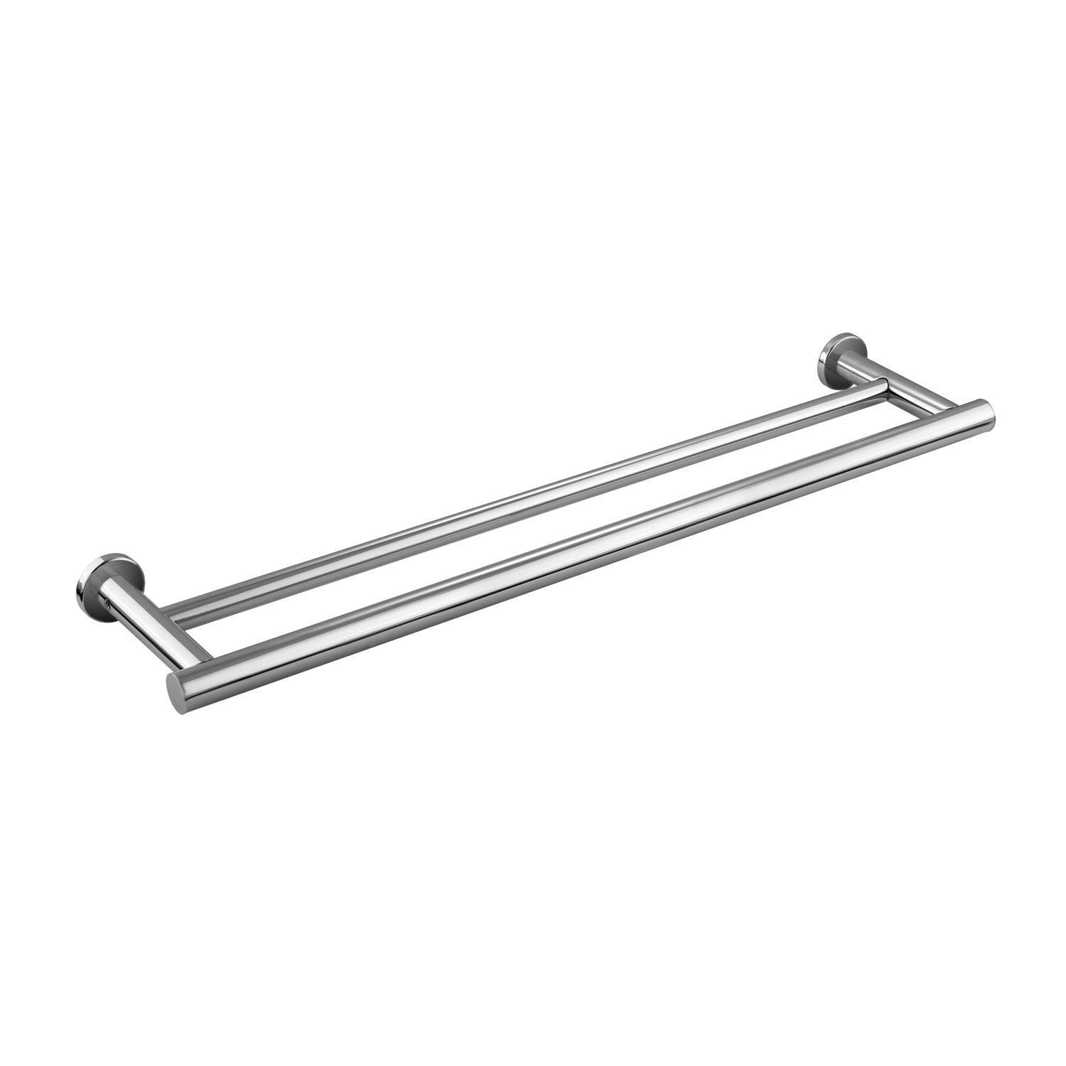 COSMIC Architect Double Towel Bar, Wall Mount, Brass Body, Chrome Finish, 23-1/6 x 1-9/16 x 5-1/8 Inches (2050161)
