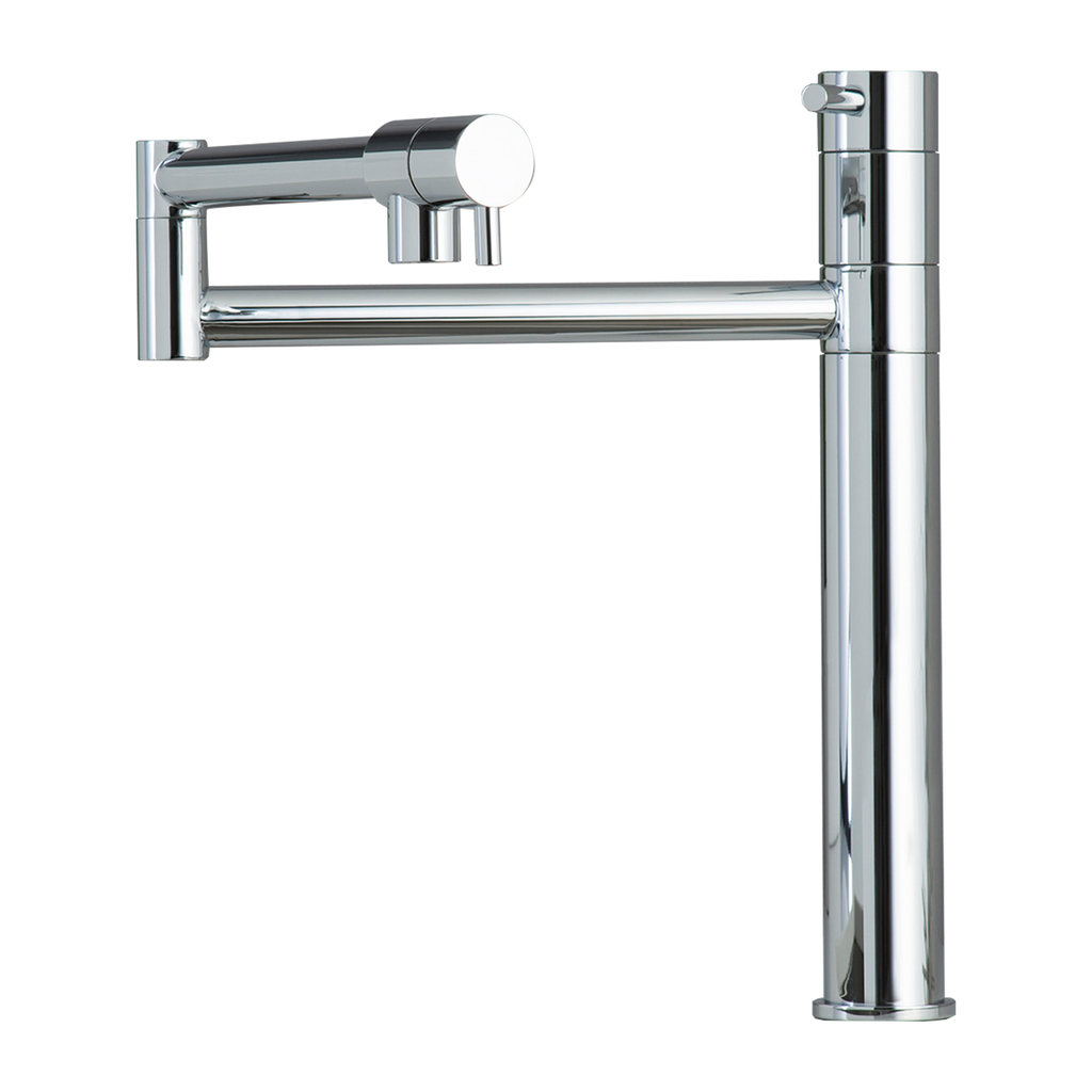 DAX Kitchen Faucet, Single Handle , Brass Body, Chrome Finish, Size 9-13/16 x 12-13/16 Inches (DAX-8729)