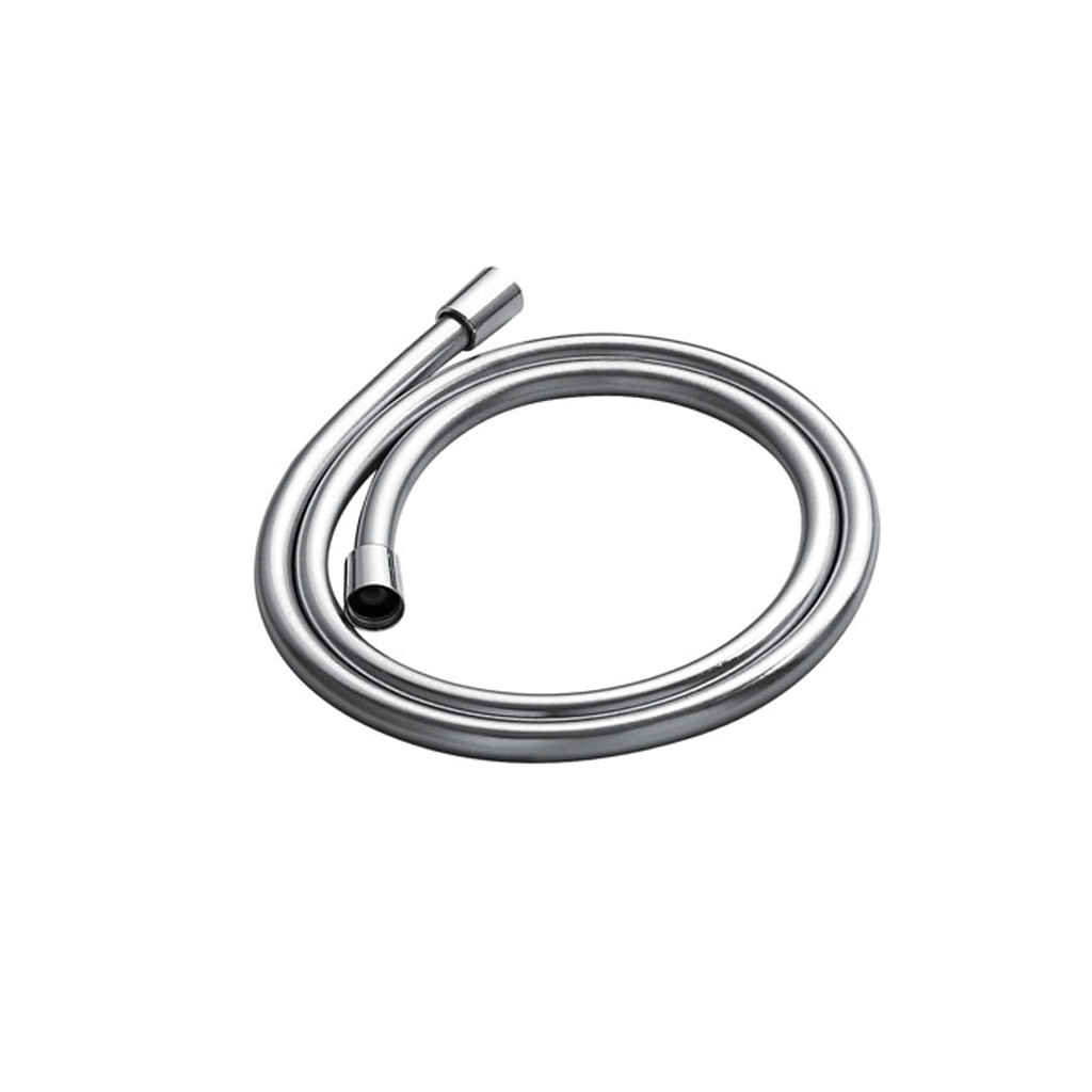 DAX PVC Shower Hose, Rubber Body, Silver Finish, Connection 1/2 Inch, 59 1/16 Inches Long (D-8861B)