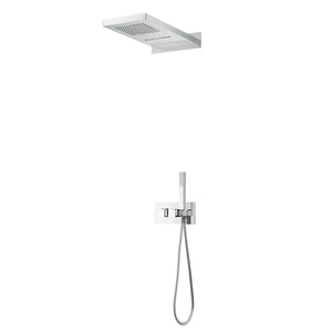 DAX Stainless Steel Shower System Thermostatic Mixer 3 Funtions Chrome Finish (DAX-9003-CR)