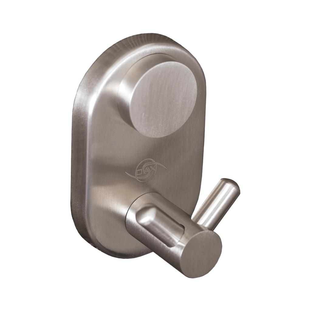 DAX Double Bathroom Hook, Wall Mount Stainless Steel, Polish Finish, 1-3/4 x 2-3/4 x 1-9/16 Inches (DAX-G0210-P)