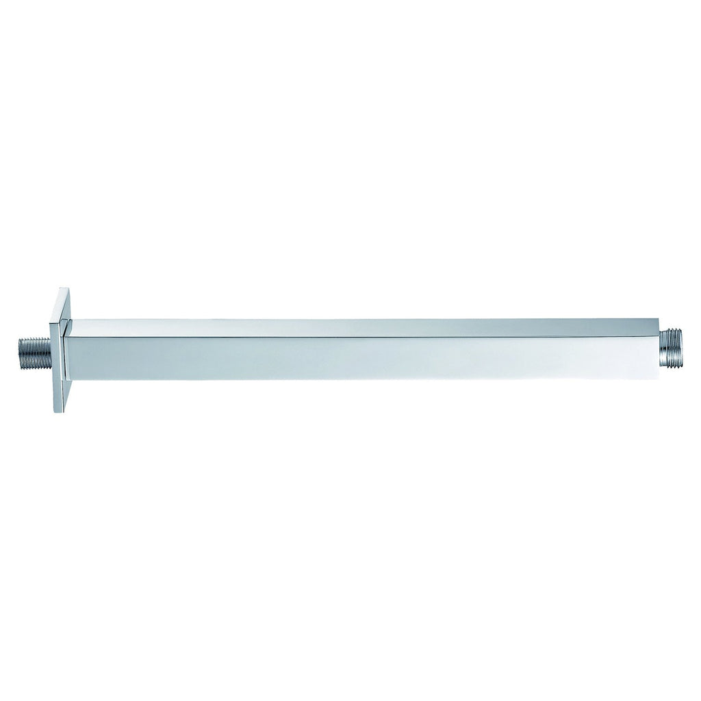 Dax Brass Square Ceiling Shower Arm 8 Inches Chrome Finish (DAX-1012-200-CR)