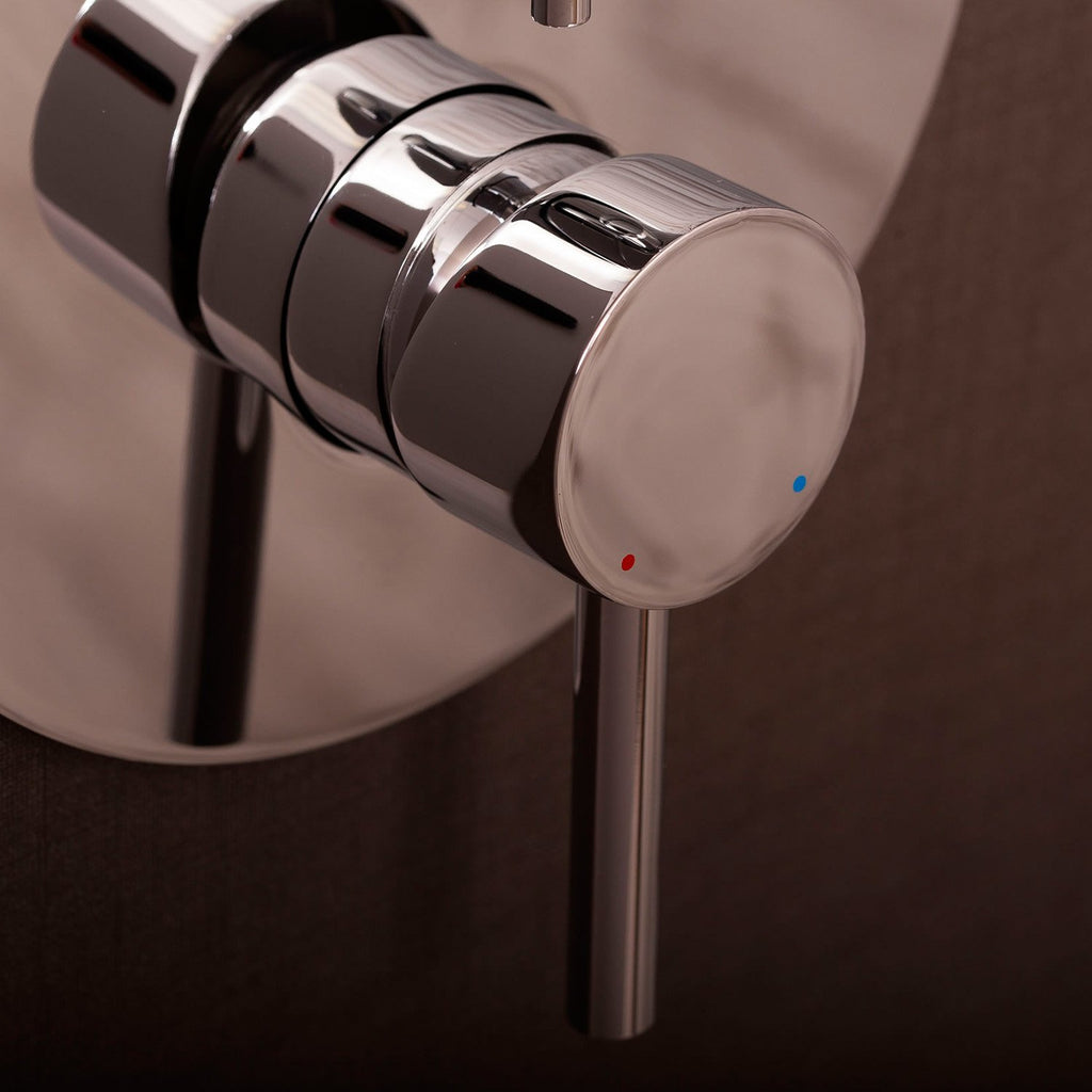 DAX Round Shower Single Valve Trim, Brass Body, Chrome Finish 7-1/2 x 4-7/16 Inches (DAX-0696-CR)