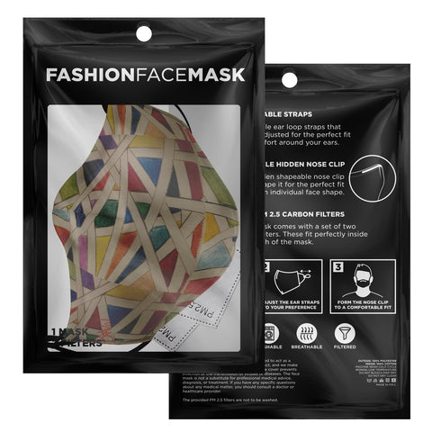 BRAVO HAND SKETCH SERIES REUSABLE FASHION FACE MASK WITH REPLACEABLE FILTERS