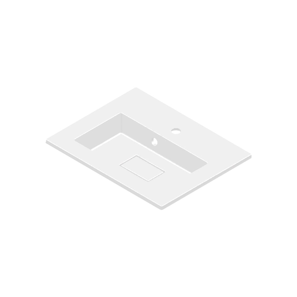 DAX Solid Surface Single Bowl Basin. Matte Finish (BSN-80024-M)