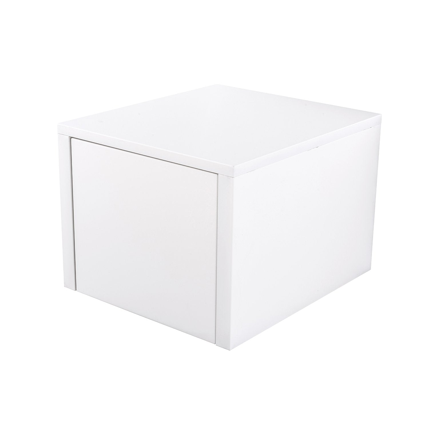 "16"" Low Side Cabinet, Wall Mount, 1 Drawer, White Gloss, 'OHANA Collection by DAX"