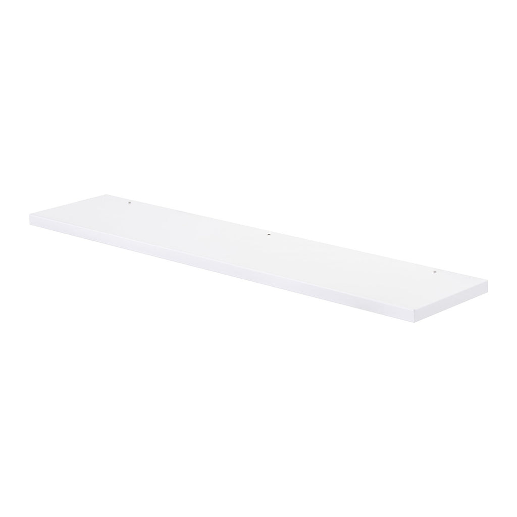 "32"" Wood Mirror Shelf, Wall Mount, White Gloss, 'OHANA Collection by DAX"