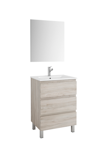"DAX Costa vanity cabinet, 24"", pine with Onix basin (DAX-COS012412-ONX)"