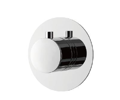 DAX Round Concealed Valve Thermostatic Mixer. Chrome Finish (DAX-1050-RD-CR)