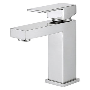 DAX Single Handle Bathroom Faucet, Brass Body, Brushed Nickel Finish, 4-5/16 x 6-1/2 Inches (DAX-6951A-BN)