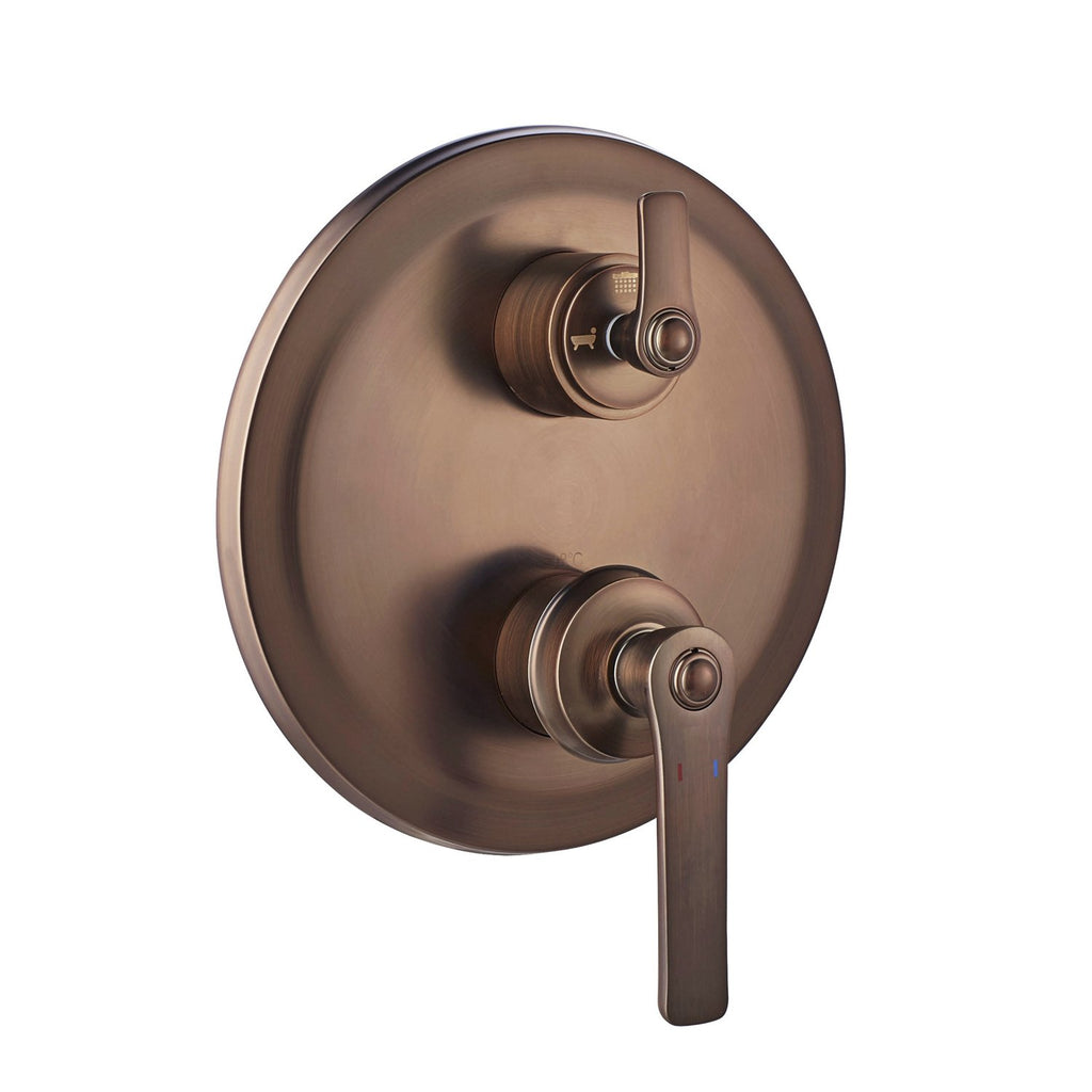 DAX Round Shower Single Valve Trim, Brass Body, Oil Rubbed Bronze Finish (DAX-79903-ORB)