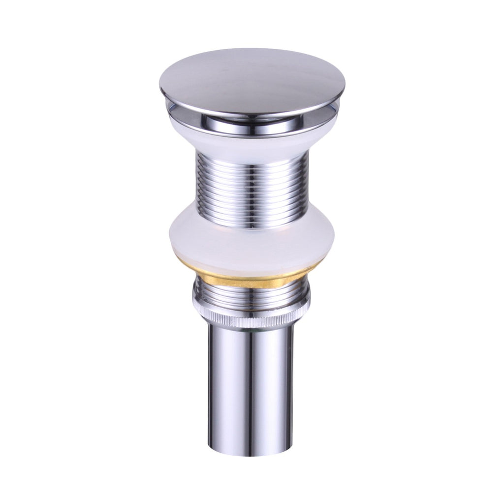 DAX Round Vanity Sink Pop up Drain, Brass Body, Chrome Finish, 2-5/8 x 8-5/8 Inches (DAX-82005-CR)