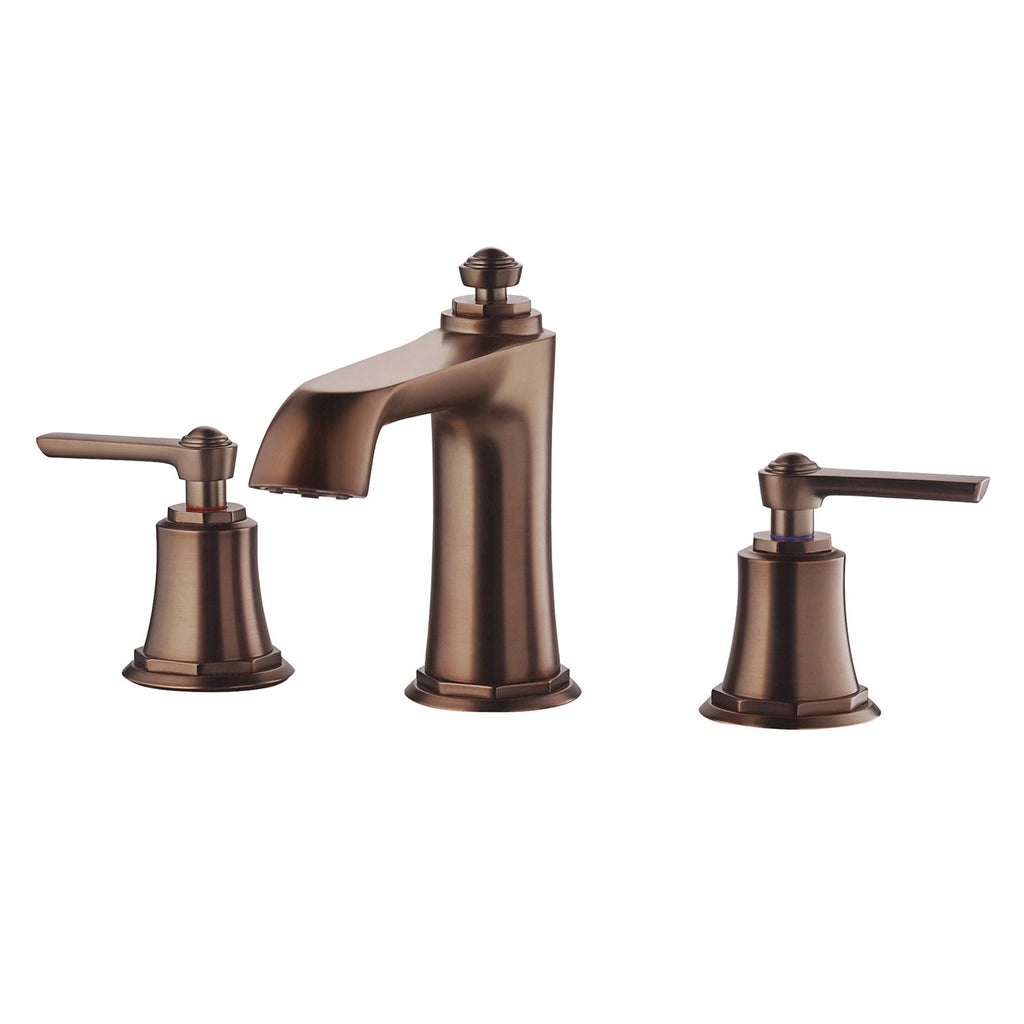 DAX Two Handle Bathroom Faucet, Brass Body, Oil Rubbed Bronze Finish, Spout Height 3-9/16 Inches (DAX-8259AC-ORB)