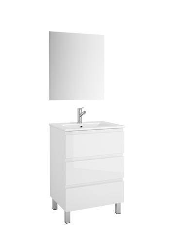 "DAX Costa vanity cabinet, 24"", glossy white with Onix basin (DAX-COS012411-ONX)"