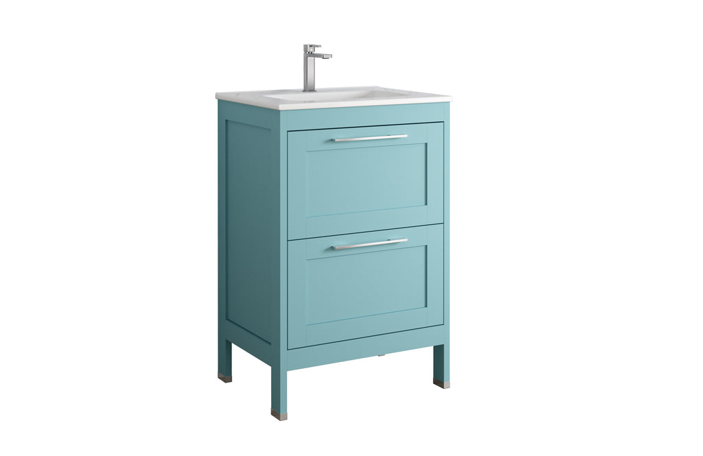 DAX Lakeside Single Vanity 24 Inches Deep Blue with Onix Basin (DAX-LAKE012419-ONX)