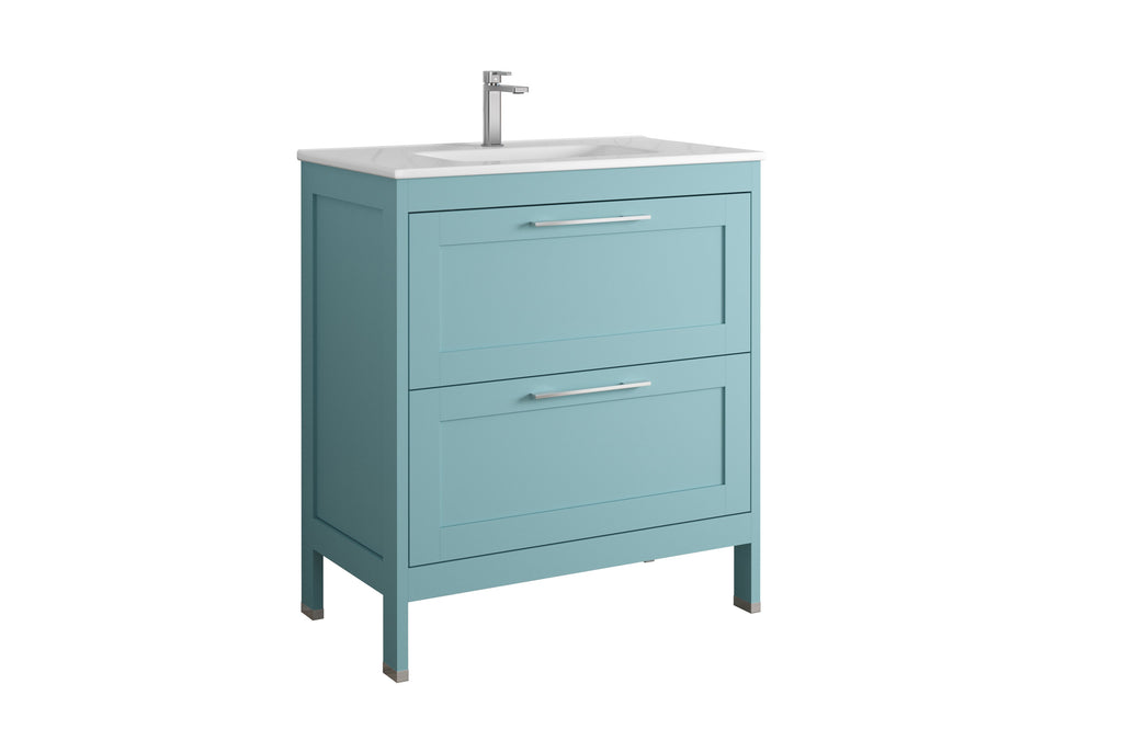 DAX Lakeside Single Vanity 32 Inches Deep Blue with Onix Basin (DAX-LAKE013219-ONX)