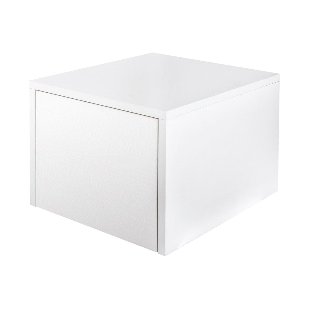 "16"" Low Side Cabinet, Wall Mount, 1 Drawer, White, ZEN Collection by DAX"
