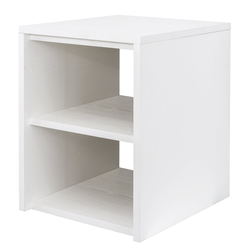 "16"" Lower Open Side Cabinet, Wall Mount, White, ZEN Collection by DAX"