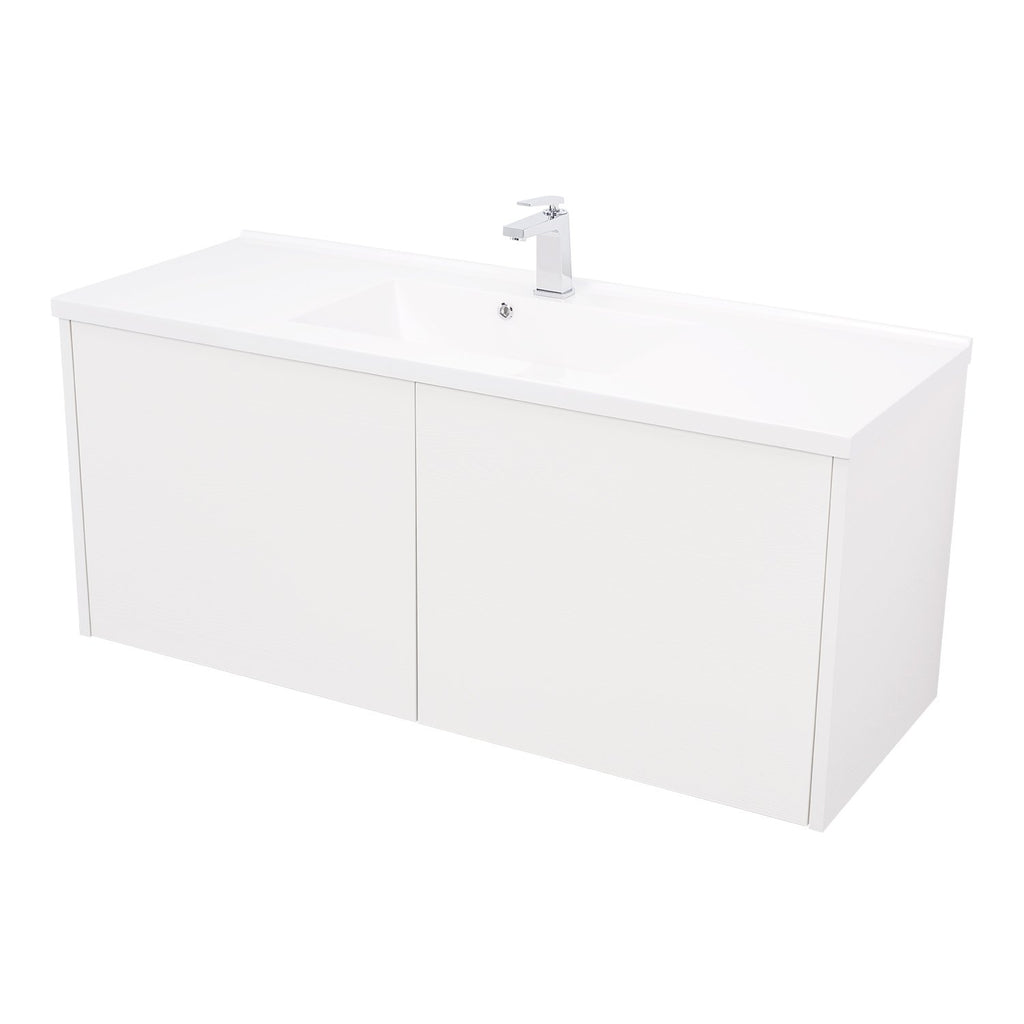 "48"" Single Vanity Cabinet, Wall Mount, 2 Doors, White, ZEN Collection by DAX"