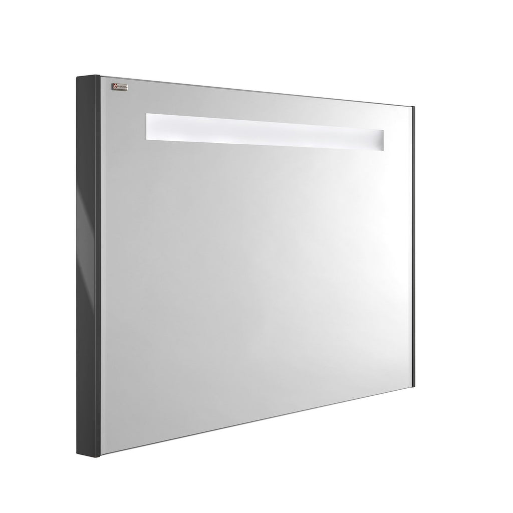 "40"" LED Backlit Bathroom Vanity Mirror, Wall Mount, Grey, Serie Dune/Solco by VALENZUELA"