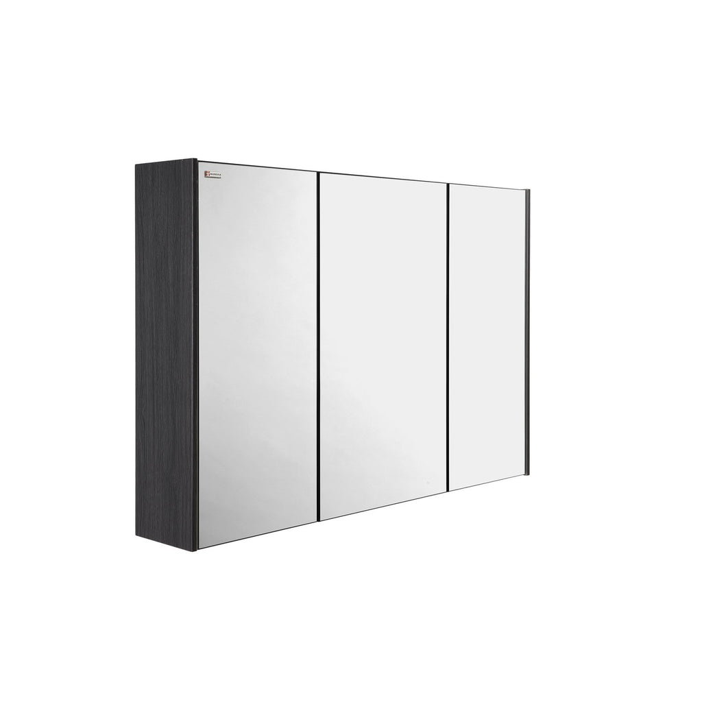 "48"" Medicine Cabinet Bathroom Vanity Mirror, Wall Mount, 3 Doors, Grey, Serie Dune/Solco by VALENZUELA"