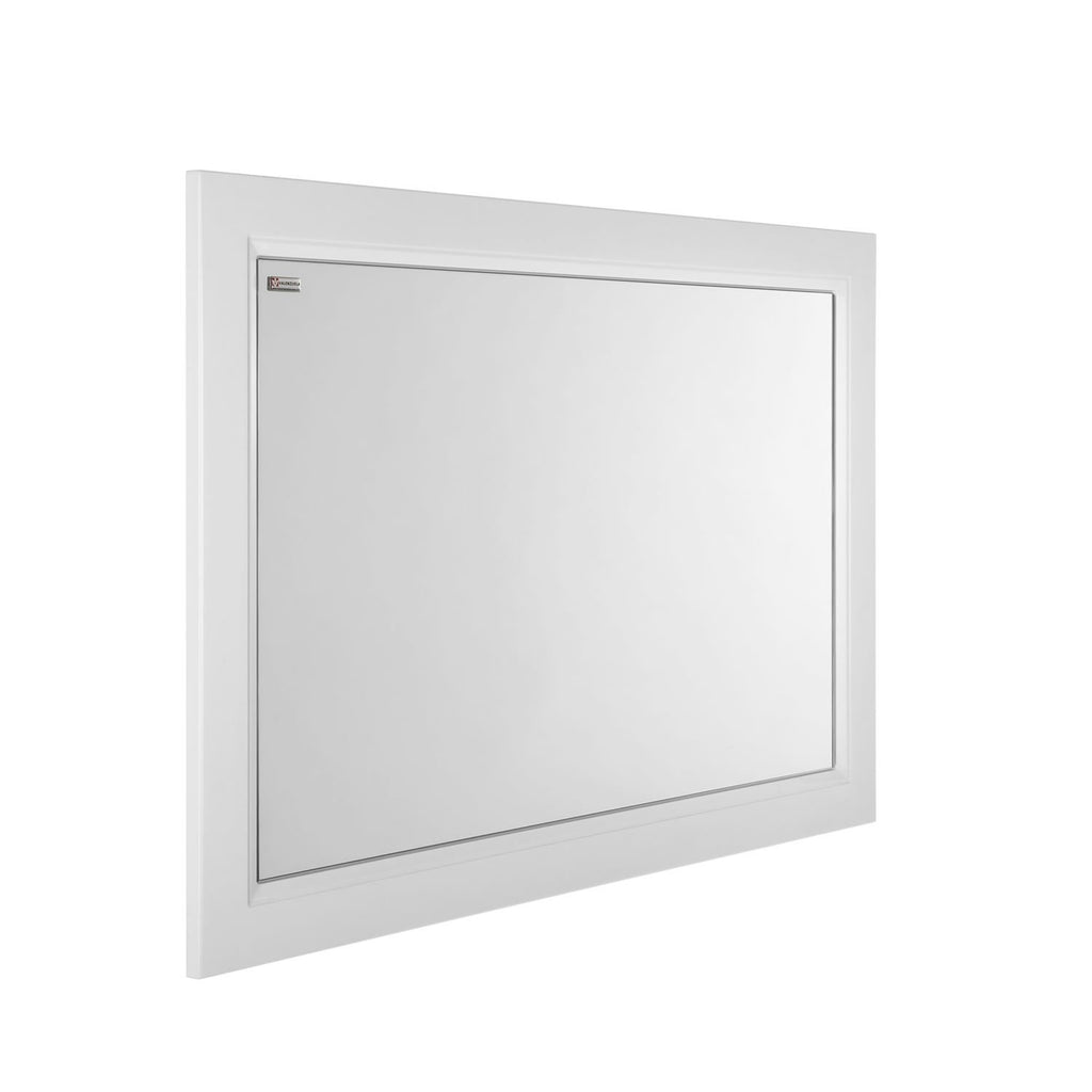 "32"" Framed Bathroom Vanity Mirror, Wall Mount, White Matt, Serie Class by VALENZUELA"