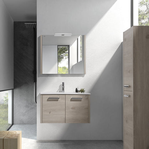 "32"" Single Vanity, Wall Mount, 2 Doors with Soft Close, Sand, Serie Nova by VALENZUELA"