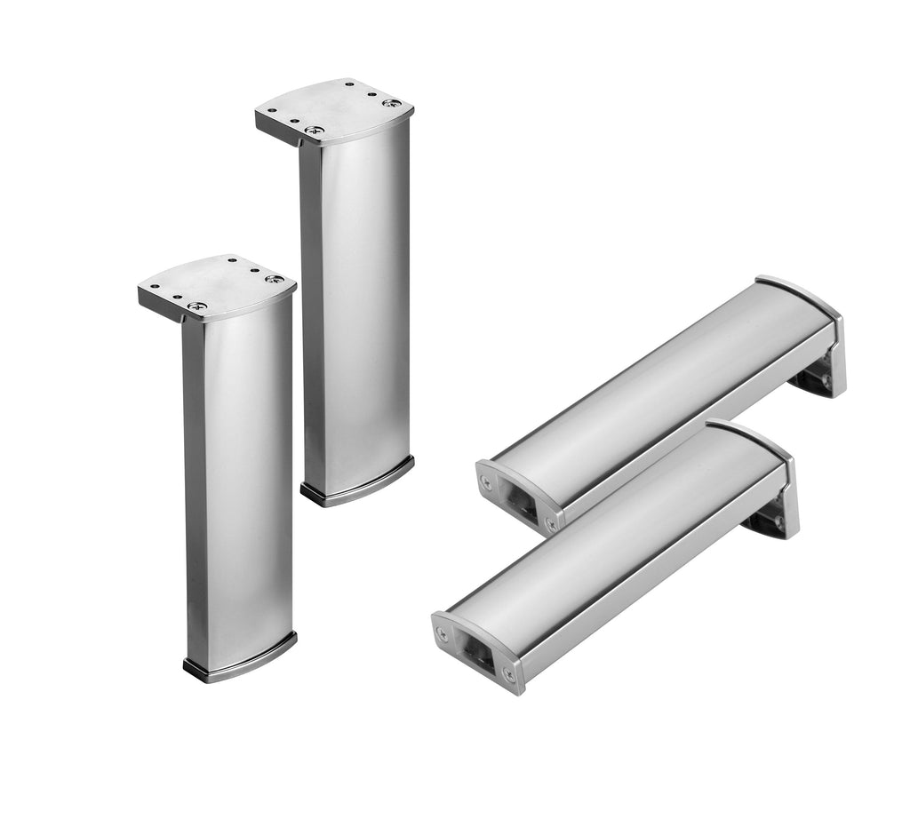 "7-1/6"" Cabinet Legs, Set of 4 Chrome by VALENZUELA"