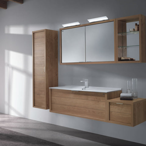 "40"" Single Vanity, Wall Mount, Drawer with Soft Close, Oak, Serie Tino by VALENZUELA"