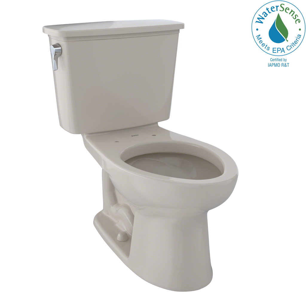 TOTO® Eco Drake® Transitional Two-Piece Elongated 1.28 GPF Toilet, Bone - CST744EN#03