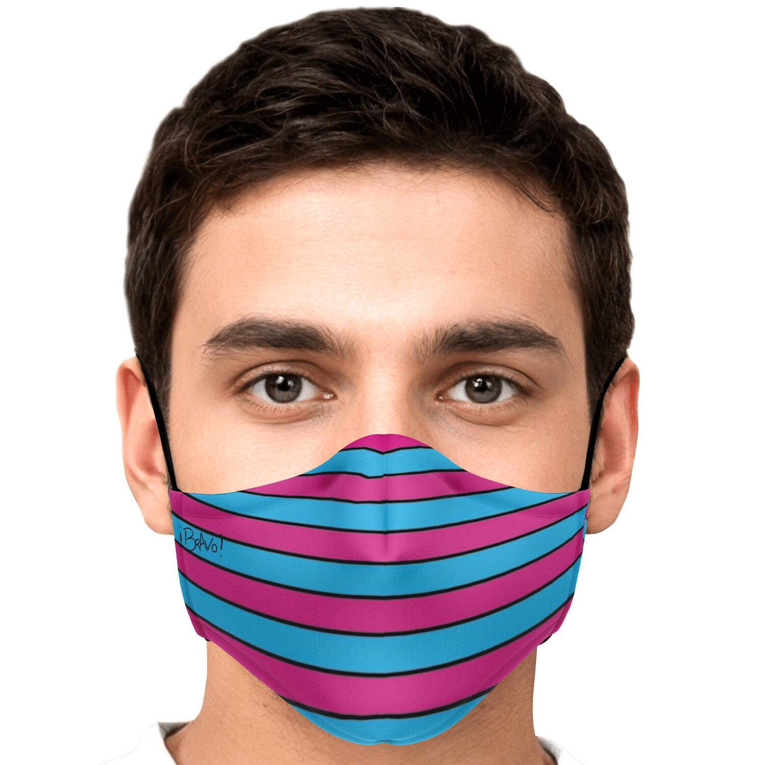 BRAVO PATTERN SERIES REUSABLE FASHION FACE MASK WITH REPLACEABLE FILTERS