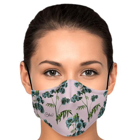 BRAVO BOTANICAL SERIES REUSABLE FASHION FACE MASK WITH FILTERS