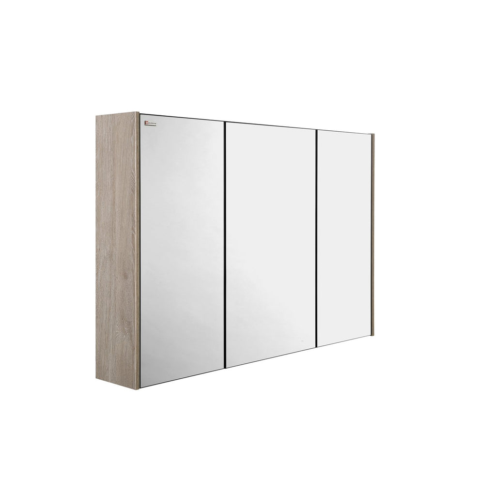 "32"" Medicine Cabinet Bathroom Vanity Mirror, Wall Mount, 3 Doors, Nature, Serie Fine by VALENZUELA"