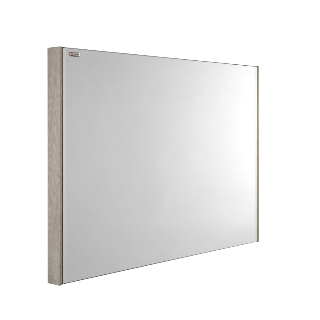 "24"" Slim Frame Bathroom Vanity Mirror, Wall Mount, Cloud, Serie Barcelona by VALENZUELA"