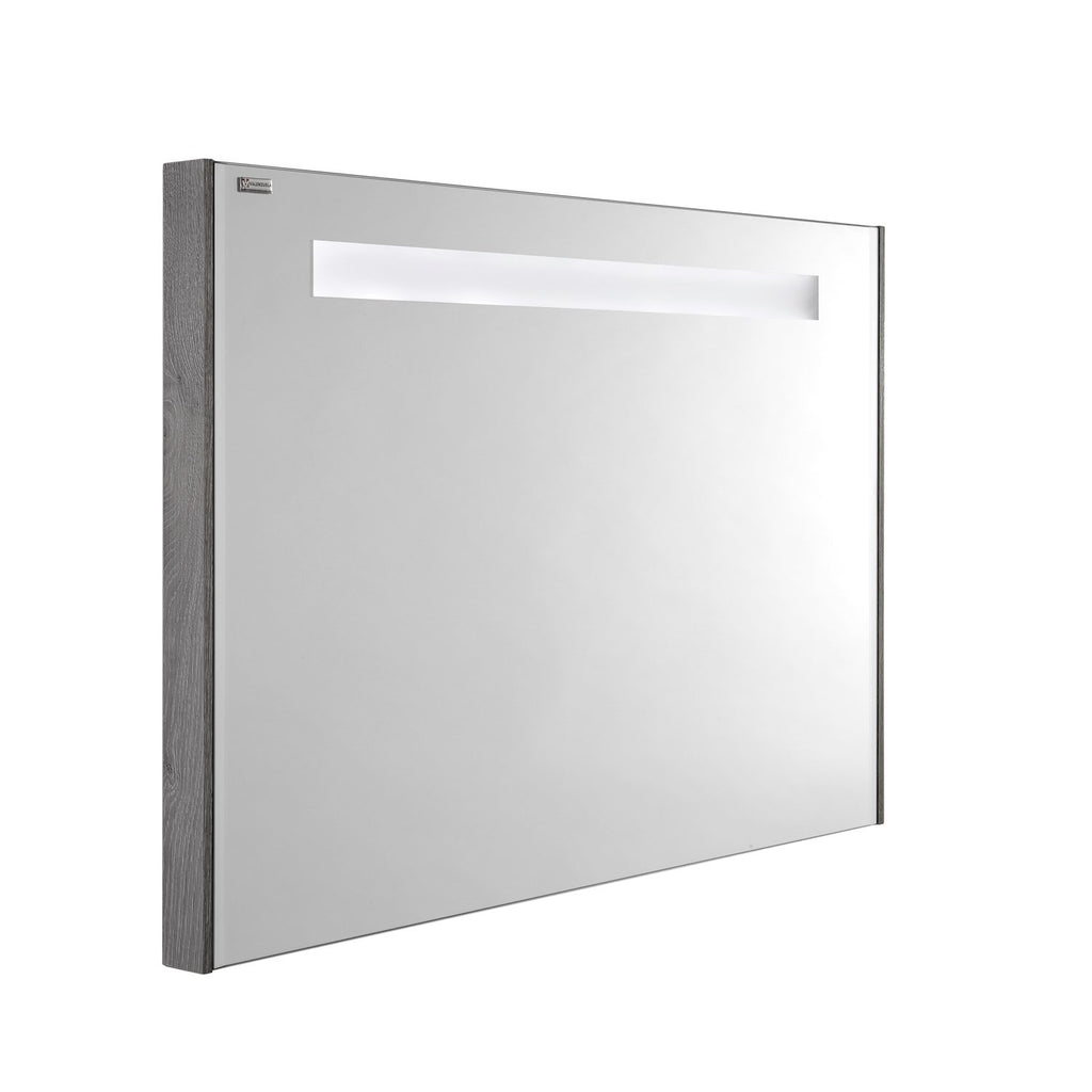 "48"" LED Backlit Bathroom Vanity Mirror, Wall Mount, Stone, Serie Fine by VALENZUELA"