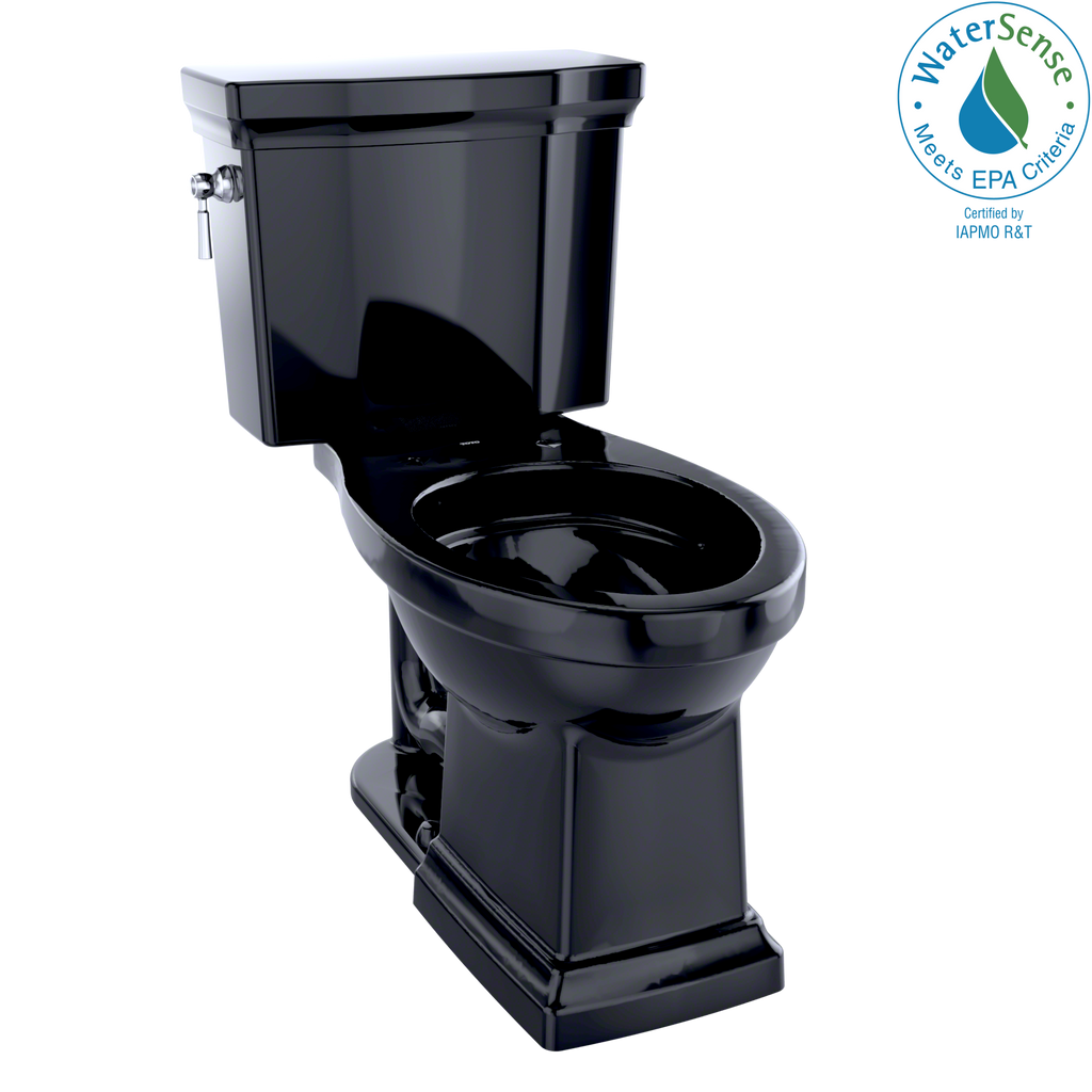 TOTO® Promenade® II Two-Piece Elongated 1.28 GPF Universal Height Toilet, Ebony - CST404CEFG#51