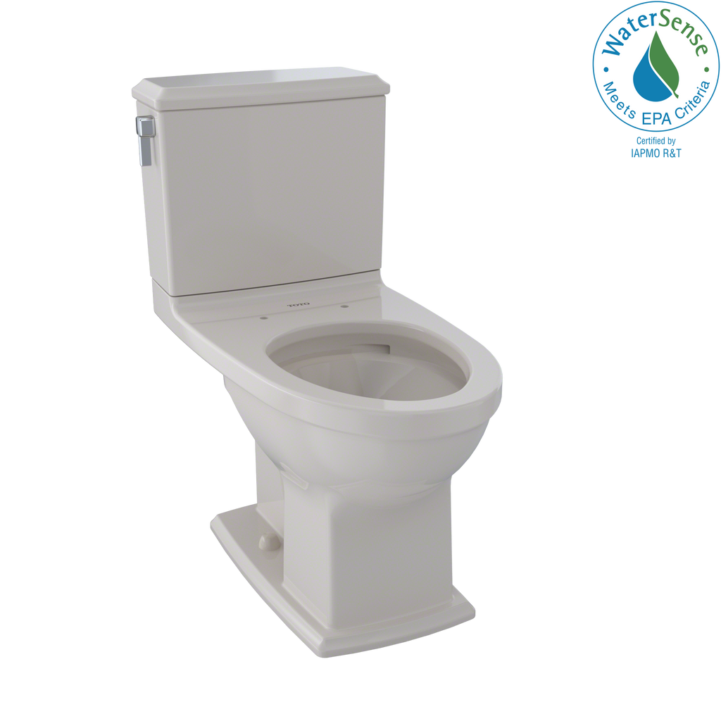 TOTO® Connelly® Two-Piece Elongated Dual-Max®, Dual Flush 1.28 and 0.9 GPF Universal Height Toilet with CeFiONtect™, Sedona Beige - CST494CEMFG#12
